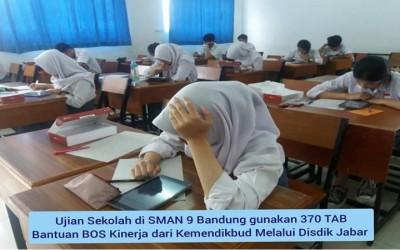 370 Tab digunakan untuk Ujian Sekolah (US) di SMAN 9 Bandung